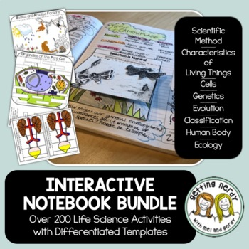 Science Interactive Notebook COMPLETE Bundle - All Activities for Life Science