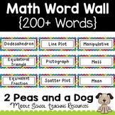 Complete Math Word Wall Rainbow Theme Bundle