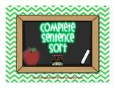 Complete Sentence Pocket Chart Station Sort