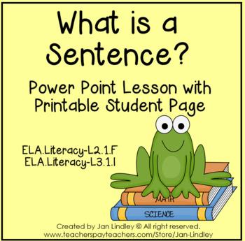 Complete Sentences Powerpoint