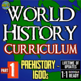 Complete World History Curriculum! Over 500 lessons, suppl