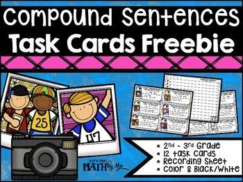 Compound Sentences - Task Cards {FREEBIE}