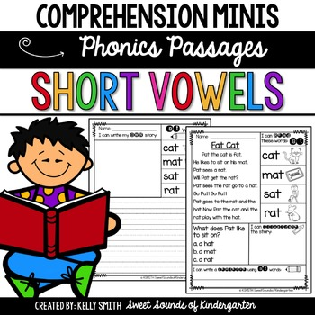 Comprehension Minis: Phonics Edition- Short Vowels!