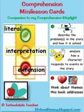 Comprehension/Reading Minilesson Menu Cards--strategies an