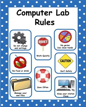 Computer Room Rules For Students