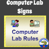 Computer Lab Rules Posters or Signs