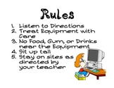 Computer Rules & Word Wall