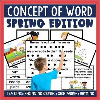 Concept of Word (COW) Poems for Emergent Readers Spring Edition