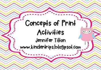 Concepts of Print Activities