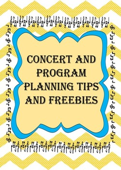 Concert Planning and Organization Packet Printables