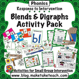 Consonant Blends and Digraphs Activity Pack- Response to I