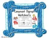 Consonant Digraph Worksheets