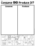 Consumer OR Producer Sort Sheet {Economics} First Grade &