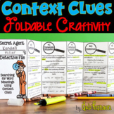 Context Clues Foldable Craftivities and Worksheets (3 file