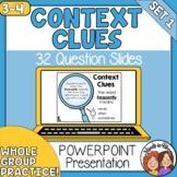 Context Clues PowerPoint: 32 Practice Slides for Grades 3-4