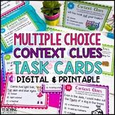Multiple Choice Context Clues Task Cards