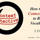 Context Clues Vocabulary Detective: FREE PowerPoint, Works
