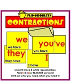 Contractions Flip Booklets