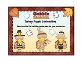 Contractions: Turkey Pilgrims / Thanksgiving Theme