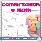 Conversation Heart Graphing, Fractions & Word Problems {Leveled}
