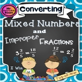 """Mixed Numbers and Improper Fractions """"Tug-of-War"""" (Converting)"""