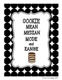 Cookie Mean Median Mode and Range Math Activity
