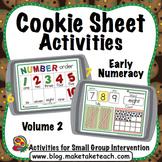 Cookie Sheet Activities Volume 2:  Number Order, Number Concepts