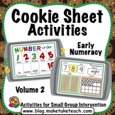 Cookie Sheet Activities Volume 2:  Number Order, Number Concepts