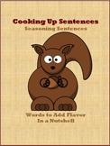 Cooking Up Sentences - Seasoning Sentences