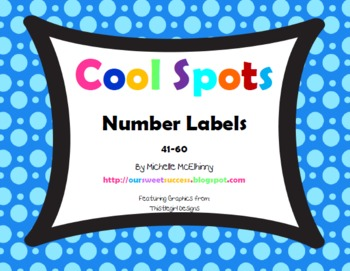 Cool Spots Number Labels 41-60