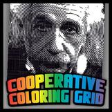 Cooperative Grid Art Project - Albert Einstein