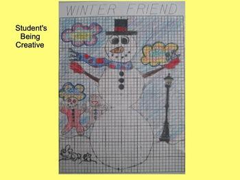 Coordinate Plane Pictures (Snowman)