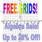 Coordinate System Grids Blank 10 x 10 for Graphing Nine per Sheet