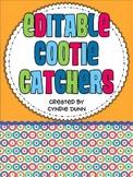 Cootie Catchers - Editable