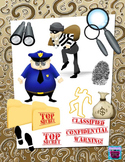 Cops, Robbers & Mystery Clipart Bundle with Coordinating D
