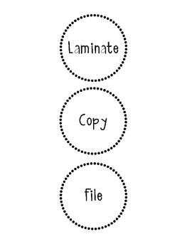 Copy, Laminate & File Labels