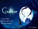 Coraline by Tim Burton Lesson Plan, Movie Chart and Writin