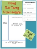 Cornell Note Taking Template
