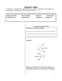 Cornell Notes on Congruent Angles