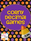 Corny  Halloween Decimal Games