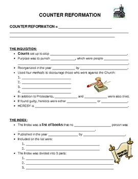 Counter Reformation - Worksheet
