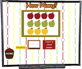 Counting Apples 0 to 20 SMART BOARD Game