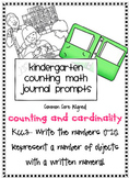 Counting Math Journal Prompts for Kindergarten (K.CC.3)