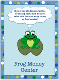 Counting Money Frog File Folder/Center Game