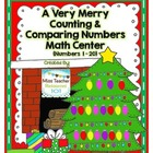 Counting and Comparing Numbers Math Centers (Merry Holiday