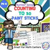 Counting to 30 with Paint Sticks-Hands-On Number Center