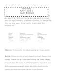 Country Report Activity Cards