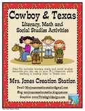 Cowboy & Texas Literacy, Math and S.S. Activities