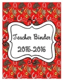 Cowboy Themed Organizational Teacher Binder