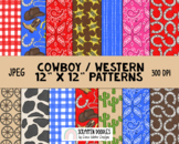 Cowboy Way Digital Background Papers
